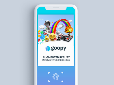 Scan Screen for Goopy.io AR App ar ui ux