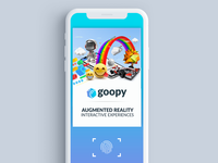 Scan Screen for Goopy.io AR App