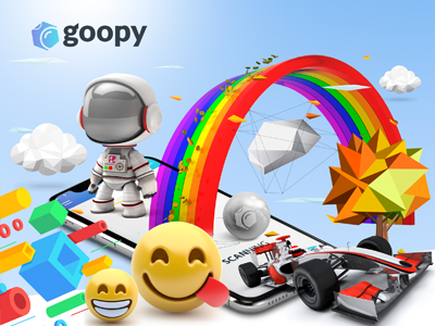 Working Product branding and designs for goopy AR ui ar