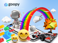 Working Product branding and designs for goopy AR