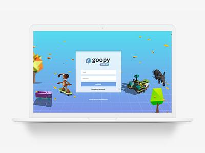 Goopy AR Studio Login Page artdirection ui ux