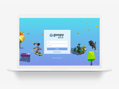 Goopy AR Studio Login Page artdirection ui ux