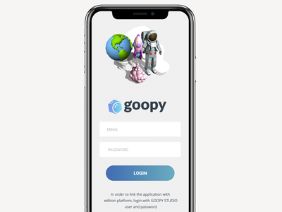 GOOPY NEW APP PARTNERS LOGIN uxui uxdesign
