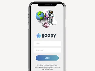 GOOPY NEW APP PARTNERS LOGIN uxui uxdesign