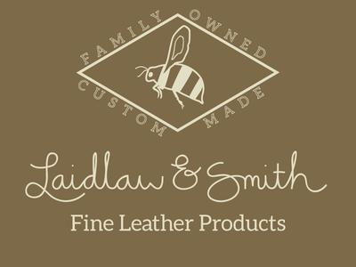 Laidlaw & Smith logo mark logo typography script flat brand identity