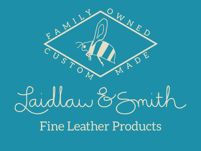 Laidlaw & Smith logo flat script mark logo