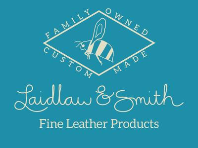 Laidlaw & Smith logo flat script mark logo