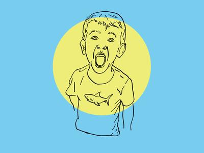 Super Psyched illustration portrait color linework