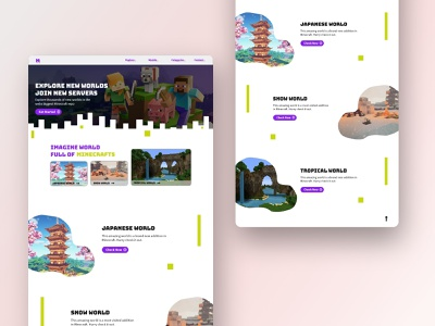 Minecrafter   Daily Creative Challenge landing page web design illustrations website minimal typography illustration web ui design daily design adobe xd