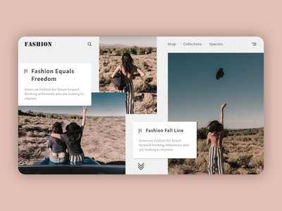 Fashion UI ui design landing page trends fashion hover effects interaction product design card animation web design interface web ui typography minimal design daily design adobe xd