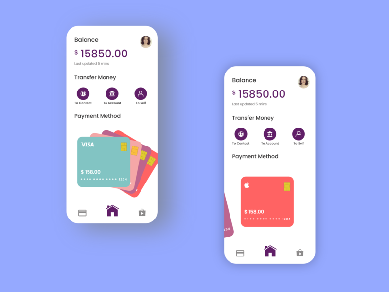 Payment App UI payment card ux money app design payment app payment interaction app product design animation interface ui minimal design daily design adobe xd