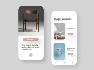 Furniture chairs app ui furniture design furniture app furniture ecommerce design ecommerce app checkout page checkout chairdesign chair cart ecommerce clean best shot dribbble popular design popular minimal app