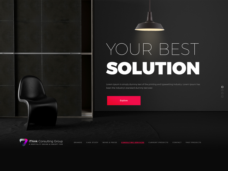 iThink Homepage Concept dark ui clean ui modern website web graphicdesign design graphic design wordpress design concept website design
