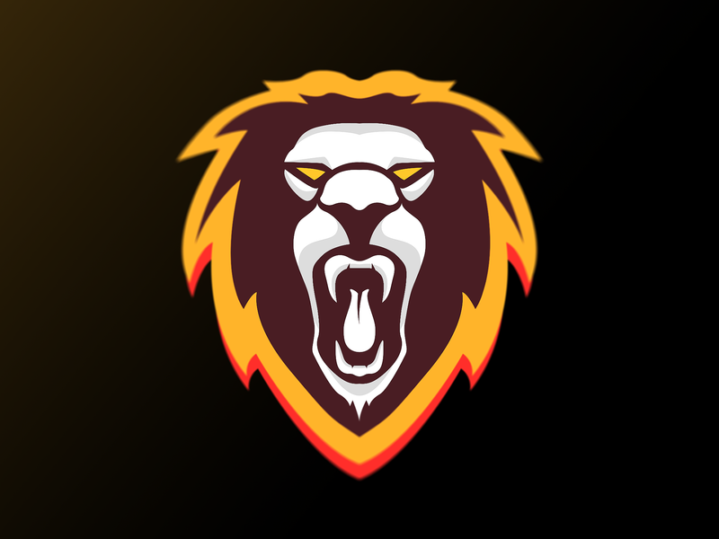 Lion Mascot roar lion adobe illustrator design logo