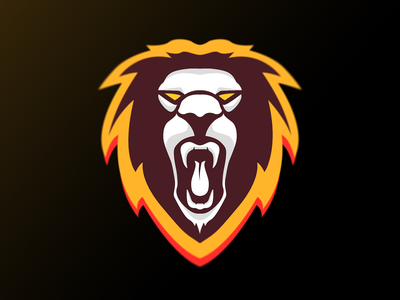 Lion Mascot roar lion adobe illustrator design logo