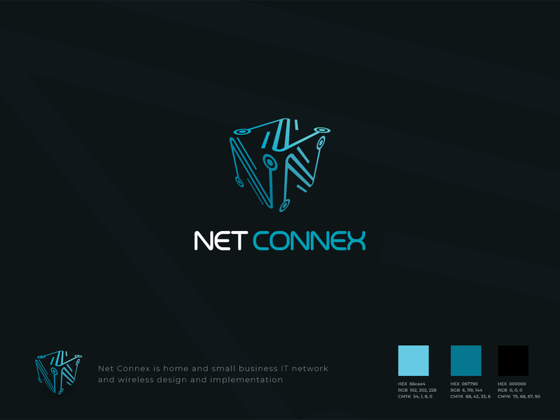 Net Connex graphic design 3d logo techno tech logodesign design logo adobe illustrator
