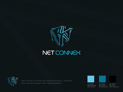 Net Connex graphic design 3d logo techno tech logodesign design logo adobe illustrator