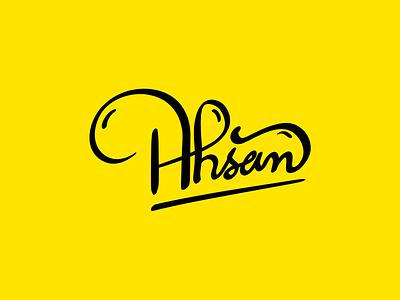 Calligraphy with Wacom handlettering ahsan graphic design calligraphy adobe illustrator wacom