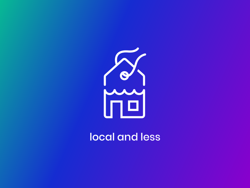 local & less contest design adobe illustrator shop discount less local graphic design app icon iconography icon design icon