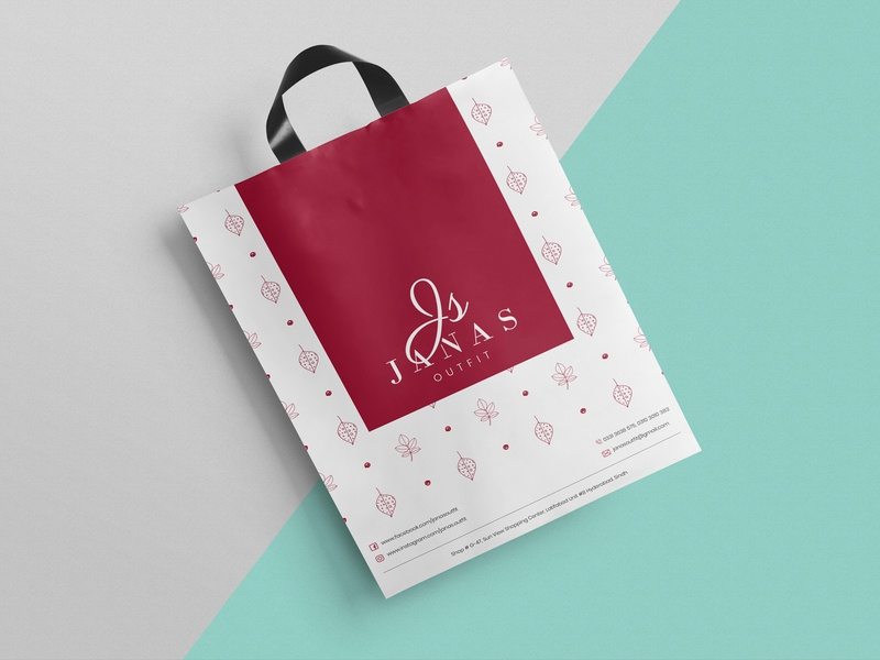 Janas Outfit adobe photoshop adobe illustrator womenfashion fashion womenclothing pattern shopping bag design logo graphicdesign logodesign branding