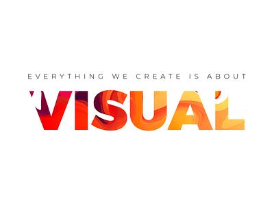 Visual homepage webdesign graphicdesign graphic design vector adobe photoshop adobe illustrator typogaphy