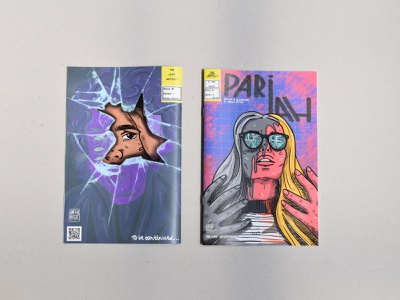 PARIAH COMIC comic comicbook published procreate visualcommunication illustration abstract narrative graphic graphic design design concept character