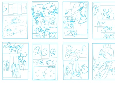 Storyboard from PARIAH visual communication visual art comic design procreate narrative concept illustration graphic design