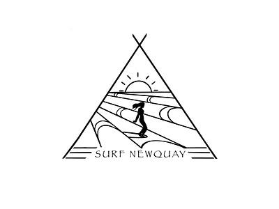 Surf Newquay, UK icon branding typography ui logo graphic illustration graphic design