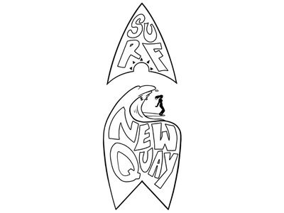 Surf Newquay icon visualcommunication ui logo branding graphic concept design illustration graphic design