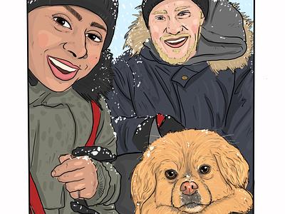 Commission Portrait product design portrait character procreate design concept illustration graphic design