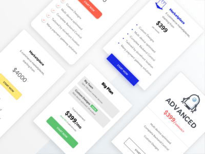 Free Pricing Card Templates. Sketch File Included