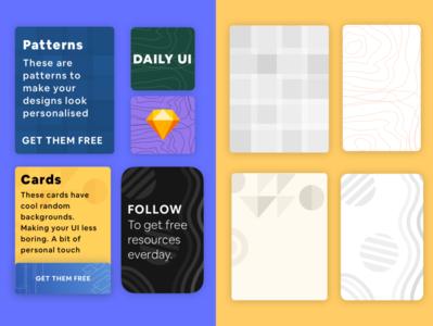 Card Background Patterns Freebie