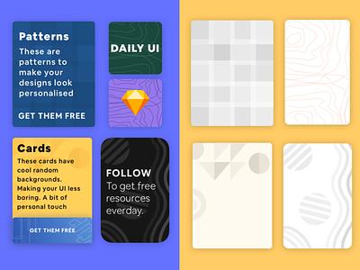 Card Background Patterns Freebie template vector ui card design figma exploration free sketch free template freebie