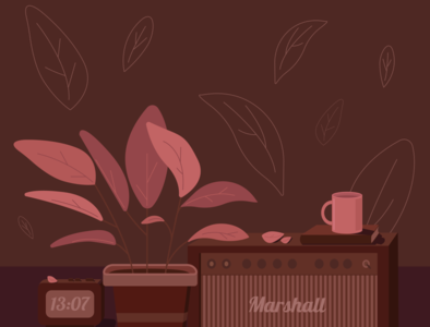 monochrome marshall plant monochromatic monochrome illustration
