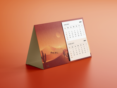 Calendar poligraphy design branding illustration