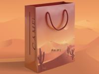 Paper Bag camel mock-up mockups mockup branding design illustration