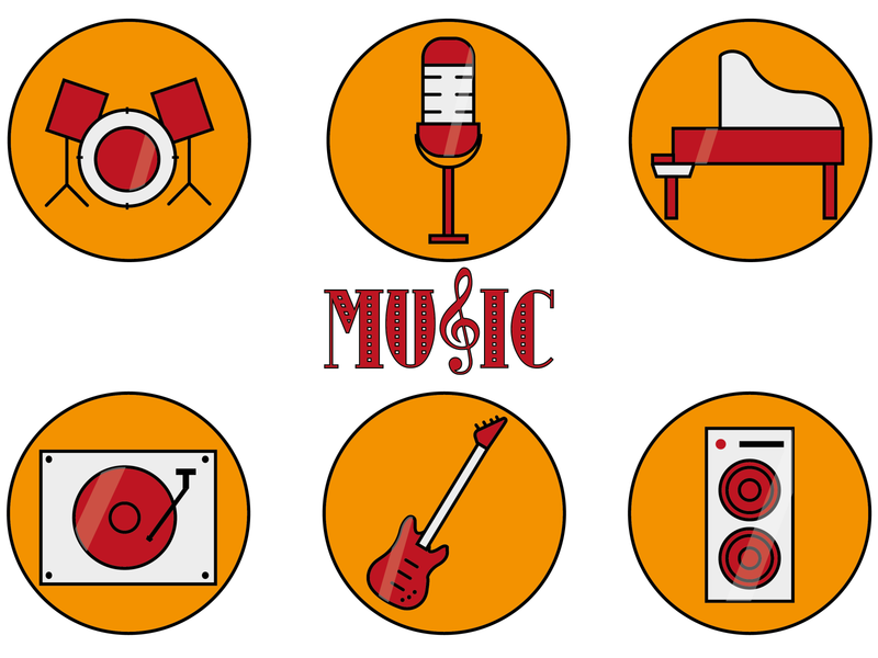 musical icons music icons set icon set icons icon vector illustration