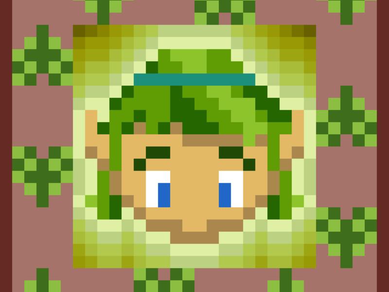 Pixel Saria video game art vector pixel art ocarina of time nintendo legend of zelda illustrator