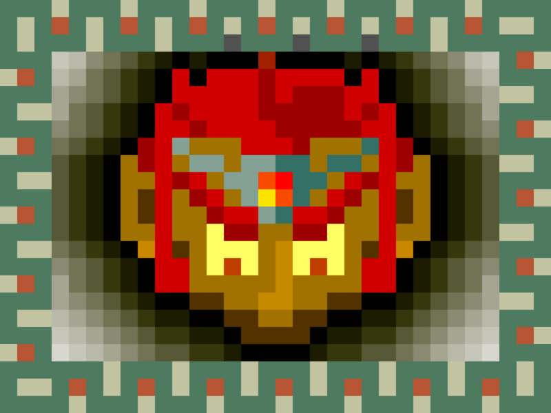 Pixel Ganon vector pixel art legend of zelda