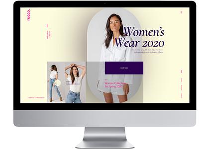 Rucco Boutique apparel shop ecommerce fashion design web ui