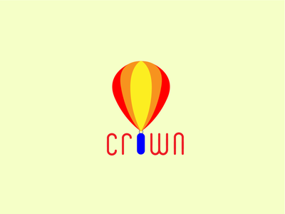 Logo design - Hot air balloon Crown art dailychallenge vector illustration designs illustrator logodesign logochallenge logo design adobe illustrator adobe