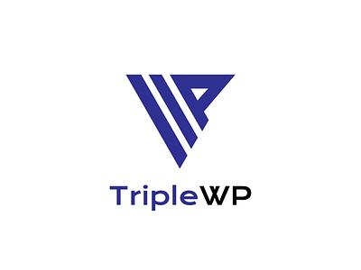 TripleWP - Logo design vector brand identity brand illustrator adobe day3 logocore triplewp 30daylogochallenge minimalist 30daychallenge logodesign logo