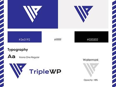 TripleWP - logo design brand design adobe illustrator logocore typography branding brand vector logo logodesign 30daychallenge
