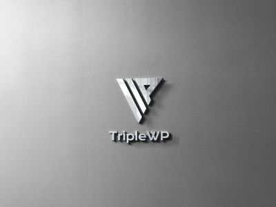 TripleWP - Logo design mockup design triplewp branding design brand design photoshoot brand 30daylogochallenge photoshop minimalist brand identity branding 30daychallenge logo