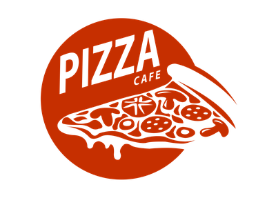 Logo design - Pizza Cafe illustration minimalist illustrator brand identity brand design vector 30daylogochallenge 30daychallenge logodesign logo