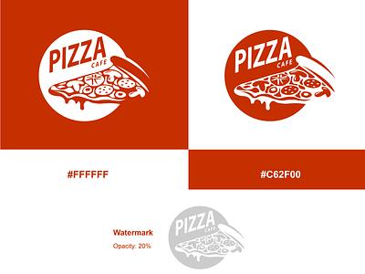 Logo Design Guideline - Pizza Cafe brand identity branding logos pizzalogo pizza photoshop minimalist illustrator brand design adobe 30daylogochallenge vector 30daychallenge logodesign logo