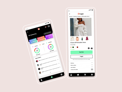 Haggle App dashboard dashboard ui dashboard design mobile ecommerce branding app design design ui product bright colors figma product design