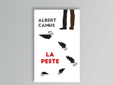 Albert Camus La Peste book cover design illustration