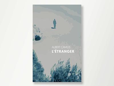 Albert Camus Stranger design illustration book cover