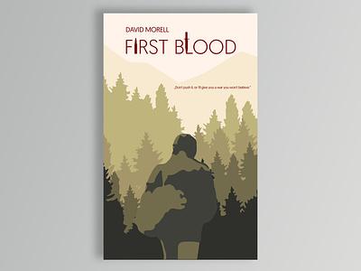 David Morell First Blood illustration design book cover